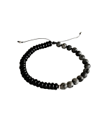 Beaded Black Alif Rope Bracelet