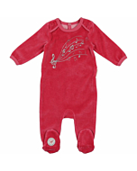 Velour Petit Melody Footie