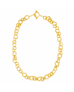 Yellow Gold Plated Aureola Chain Necklace