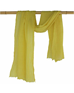 Woollen Naturally Dyed Eco-friendly Shawl Scarf | Botanica Bright Yellow