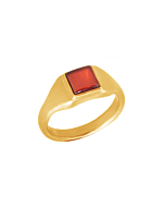 22kt Gold Plated Silver Carnelian Roman Signet Ring