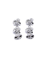 925 Sterling Silver Triple Petal Drop Earrings