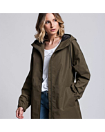 Raincoat with Hood STORM color Khaki