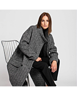 SALE Distinct Women's Wool Grey Coat
