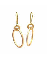 Gold Serendipity Double Circle Earrings