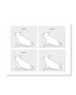 French Bulldog Yoga Illustration Art Print Poster