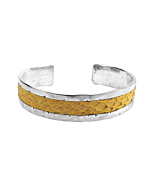 Sterling Silver & Yellow Salmon Leather Freya Cuff Bracelet | Nord Collection