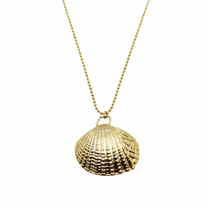 Gold Plated Clam Shell Necklace