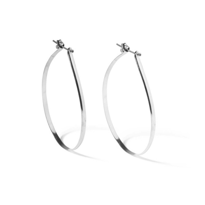 Sterling Silver Spiked Hoops