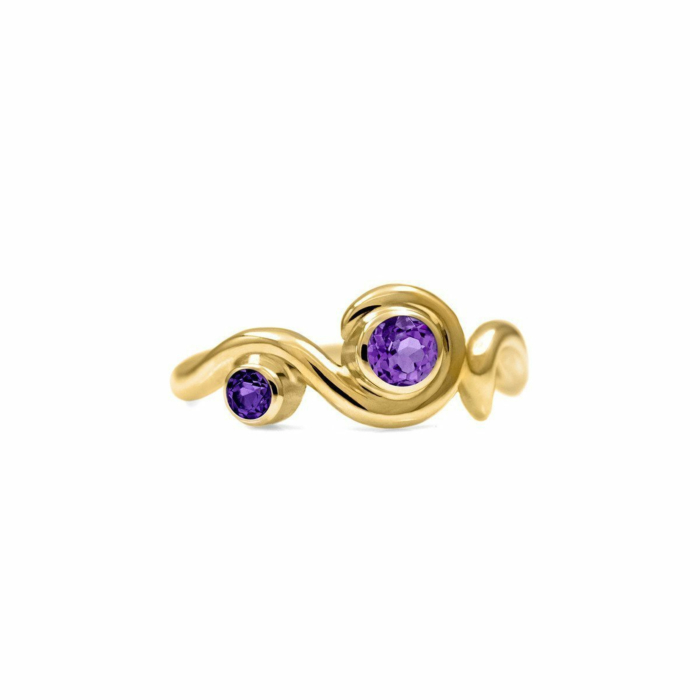 Entwine Two Stone Ring In Gold