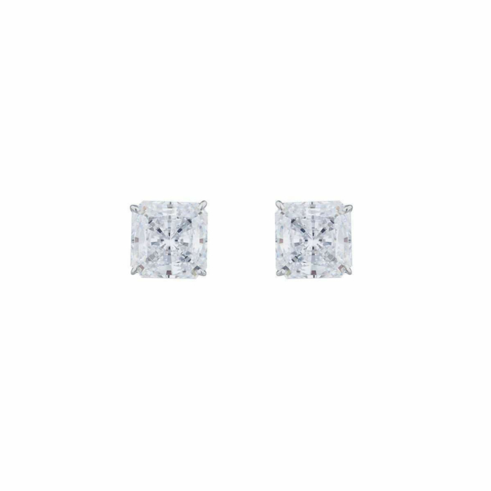14kt White Gold 1.5ct Princess Stud Earrings