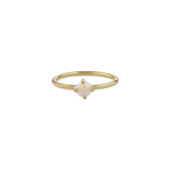 Yellow Gold Elegant Gemstone Solitaire Ring