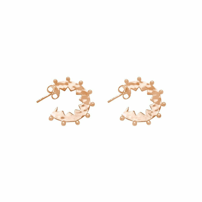 Rose Gold Maya Small Hoop Earrings