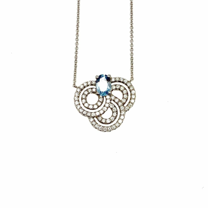 18kt White Gold Leela Necklace