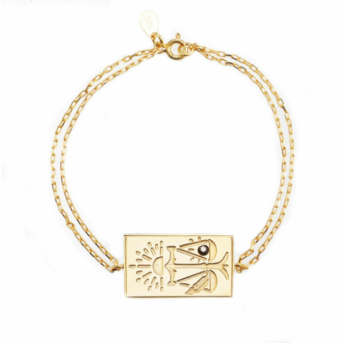 24kt Yellow Gold Plated Celestial Days - Tyr's Day Bracelet