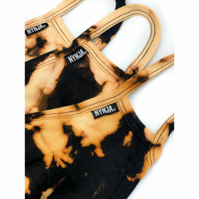 NYNJA Black Tie Dye Face Mask - Limited Edition with Filter Pocket