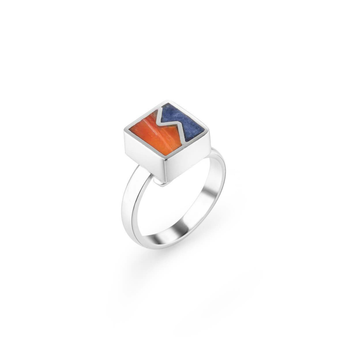 Sterling Silver Inca Stones Ring
