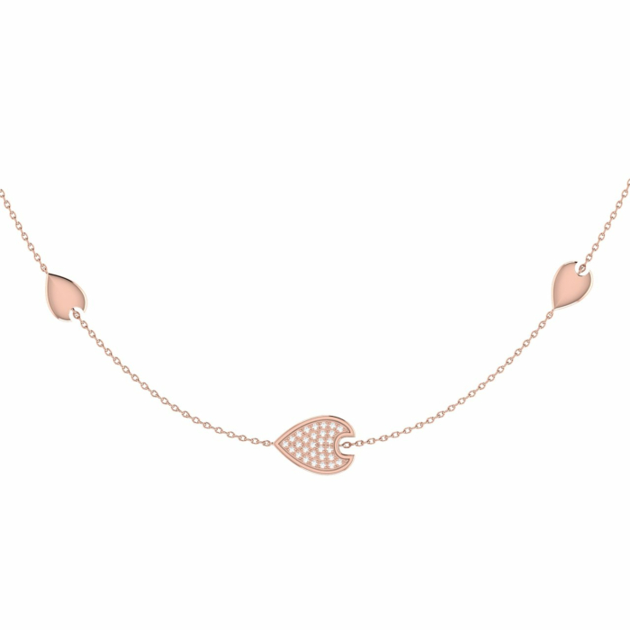 14kt Rose Gold Plated Silver Avani Raindrop Necklace