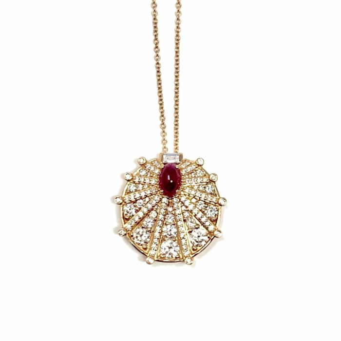 18kt Rose Gold Sunshine Necklace