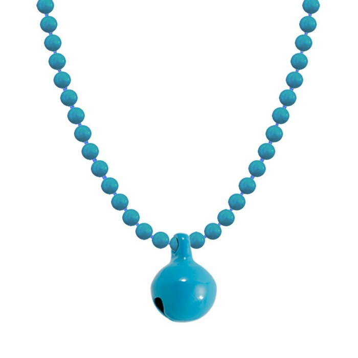 Allumette Neon Bell Necklace - Neon Blue