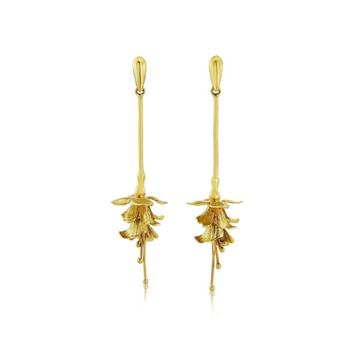 9kt Gold Fuchsia Drop Earrings