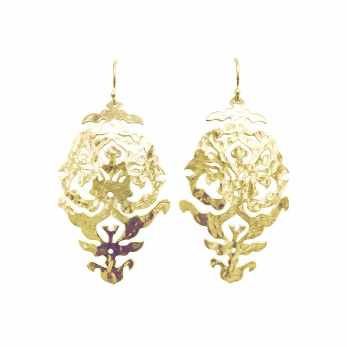Gold Empire Drop Earrings