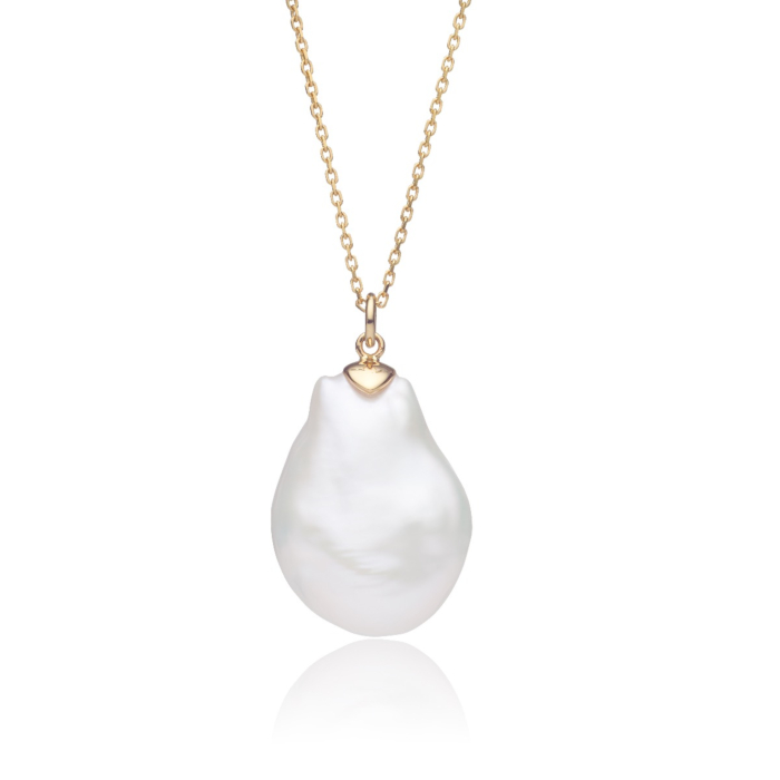 14kt Yellow Gold & Large Baroque Pearl Camille Pendant