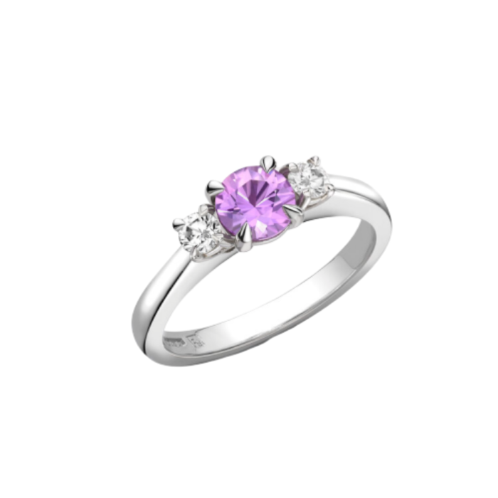 Platinum Purple Sapphire Chicago ring