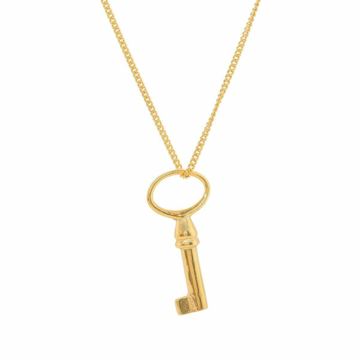 Perfect Gold Plated Key Charm