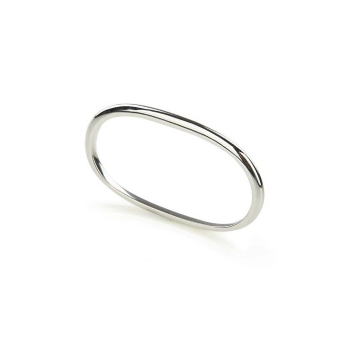 Sterling Silver Pure Double Ring