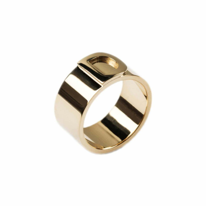 14kt Yellow Gold Bold Character Ring