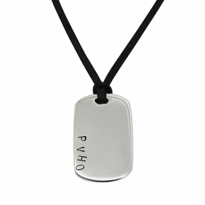 Sterling Silver Personalised Dog Tag Necklace