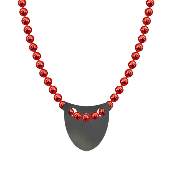Made In Britain Necklace - Black Rhodium Plated Bowed Shield