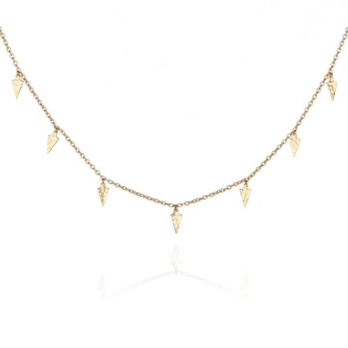 Yellow Gold Plated Sarah Necklace