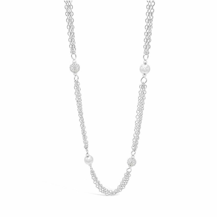 Sterling Silver Autumn Moon 'Dance With Me' Necklace