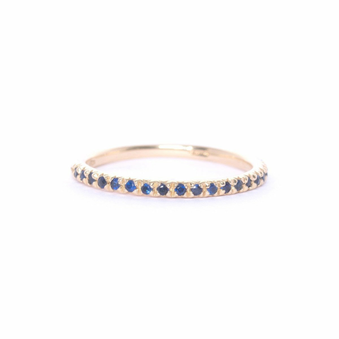 Gold & Blue Demi Pointe Ring
