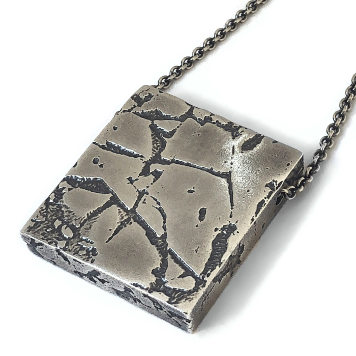 Oxidised Sterling Silver - The Ice Cube Necklace