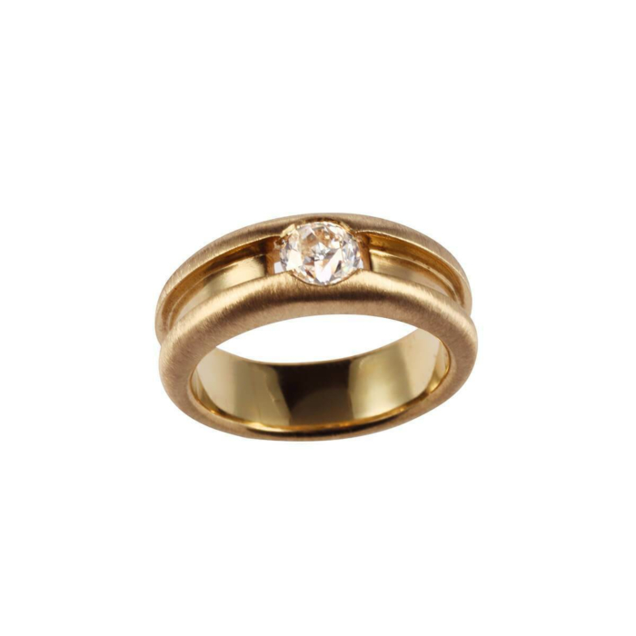 Yellow Gold & Diamond Forever Yours Ring | Goldspindel