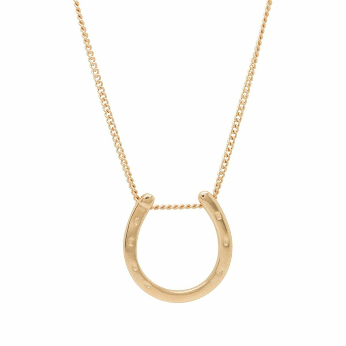 Small Gold Plated Horseshoe Charm