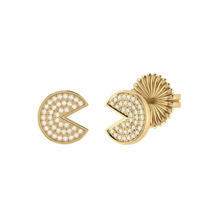 14kt Yellow Gold Plated Pac-Man Candy Earrings