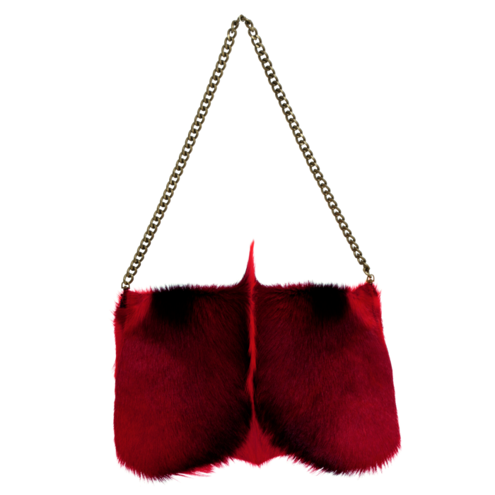 red springbok fur bag