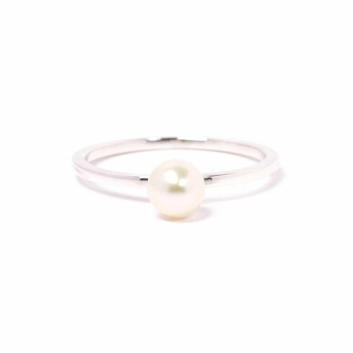Silver & Pearl Satellite Ring