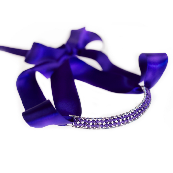 Sterling Silver Purple Bowie Collar With Swarovski Crystals