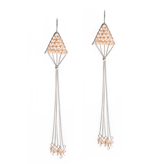 Sterling Silver Triangulum Light Peach Pearl
