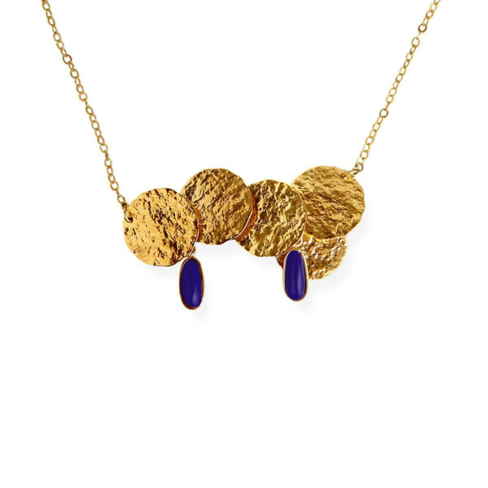 18kt Gold Plated Silver Coins Necklace