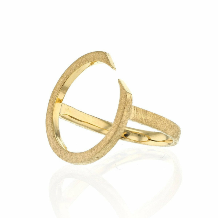 Gold Plated Ring With Circling Top