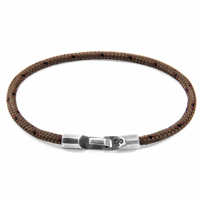 Brown Talbot Silver and Rope Bracelet
