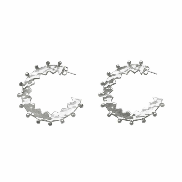 Sterling Silver Maya Large Hoop Earrings