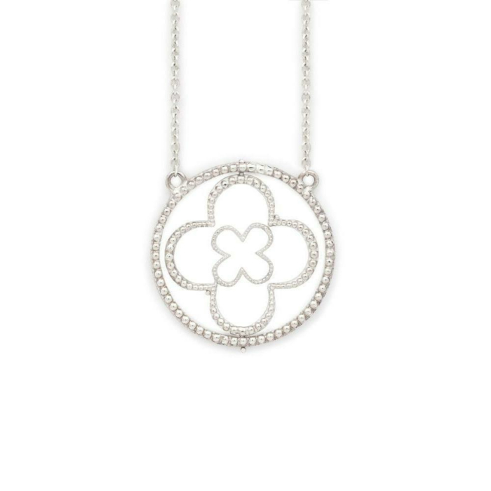 Sterling Silver Faith Pendant with Cubic Zirconia