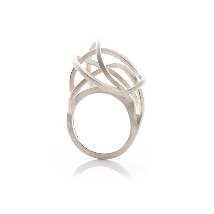Sterling Silver Round Tangled Rings